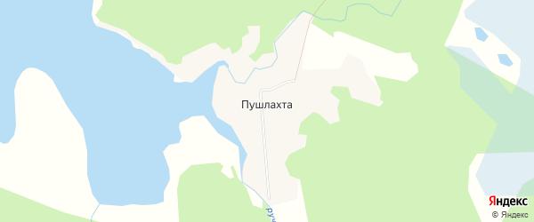 Карта деревни Пушлахта в Архангельской области с улицами и номерами домов