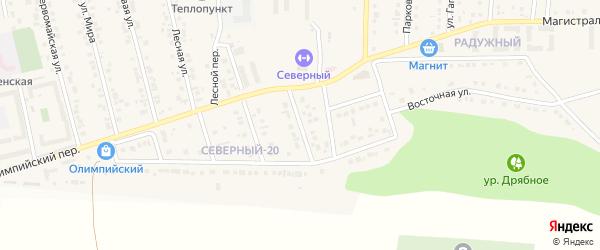 Восточный 1-й переулок на карте Северного поселка с номерами домов