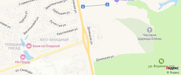 Донецкая улица на карте поселка Дубового с номерами домов