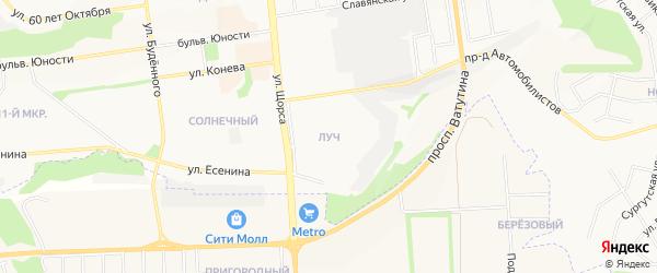 Луч Белгородского строительного техникум на карте Белгорода с номерами домов