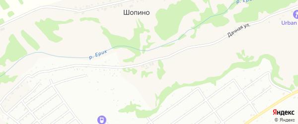 Дачная улица на карте села Шопино с номерами домов