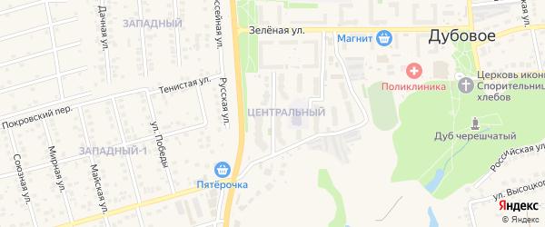 Звездная улица на карте поселка Дубового с номерами домов