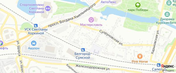 Супруновский 6-й переулок на карте Белгорода с номерами домов