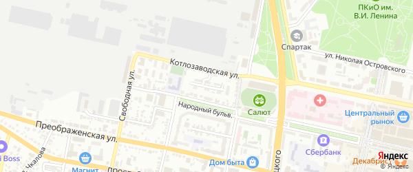 Котлозаводской 2-й переулок на карте Белгорода с номерами домов
