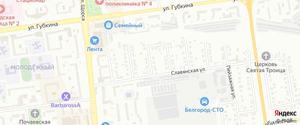 Суздальский переулок на карте Белгорода с номерами домов