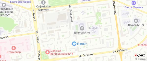 Улица Шаландина на карте Белгорода с номерами домов