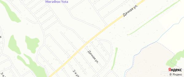 Дачная улица на карте хутора Шепелевки с номерами домов