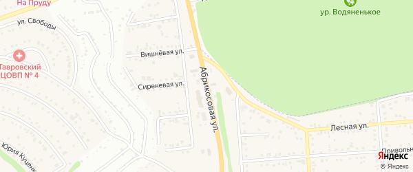 Абрикосовая улица на карте Таврово 5-й микрорайона с номерами домов