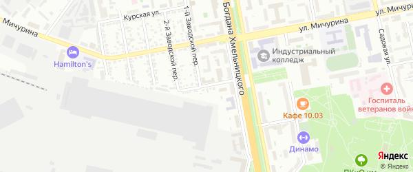 Улица Генерала Лебедя на карте Белгорода с номерами домов
