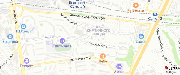 Тавровский тупик на карте Белгорода с номерами домов