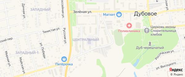 Лунная улица на карте поселка Дубового с номерами домов