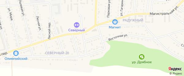 Восточный 2-й переулок на карте Северного поселка с номерами домов