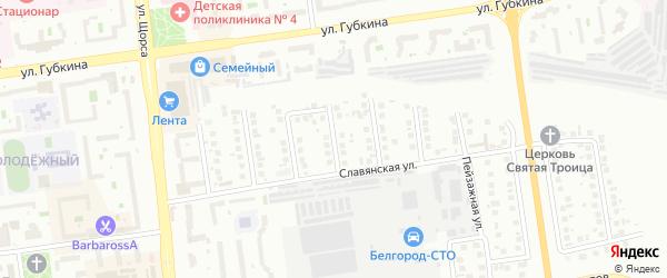 Вологодский переулок на карте Белгорода с номерами домов