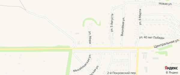 Улица Мира на карте села Терновки с номерами домов