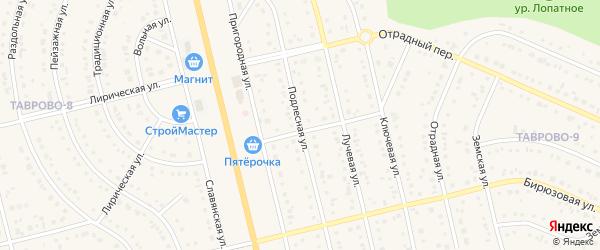 Подлесная улица на карте Таврово 9-й микрорайона с номерами домов