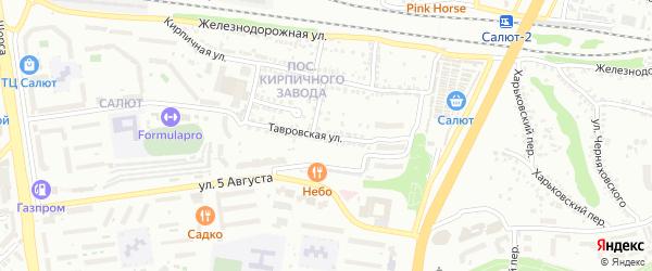 Тавровская улица на карте Белгорода с номерами домов