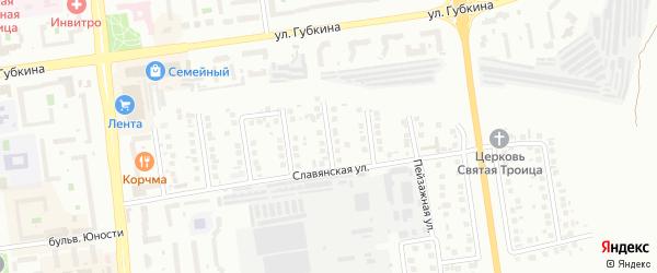 Павловский переулок на карте Белгорода с номерами домов