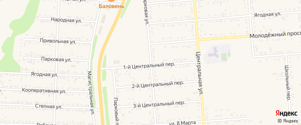 Парковая улица на карте Таврово 2-й микрорайона с номерами домов