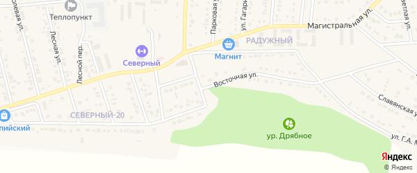 Восточная улица на карте Северного поселка с номерами домов