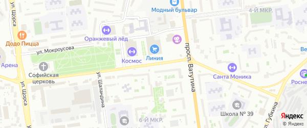 Улица Королева на карте Белгорода с номерами домов