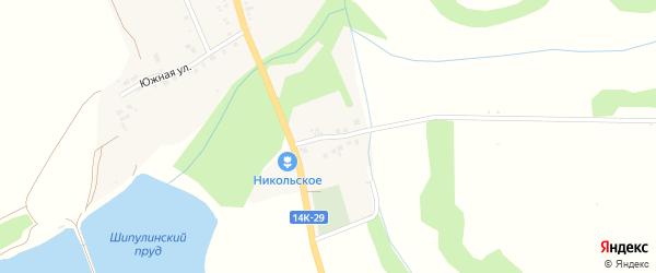Советский переулок на карте Никольского села с номерами домов