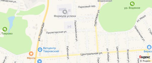 Первомайская улица на карте Таврово 4-й микрорайона с номерами домов