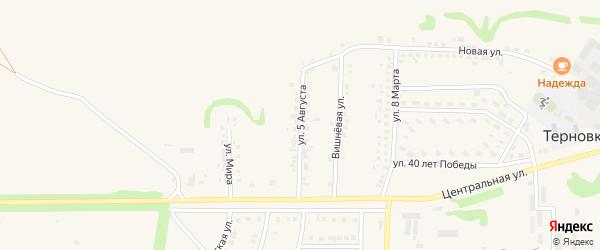 Улица 5 Августа на карте села Терновки с номерами домов