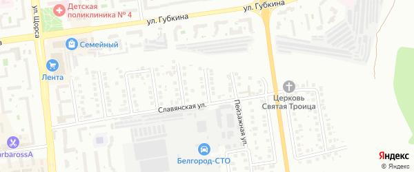 Гатчинский переулок на карте Белгорода с номерами домов