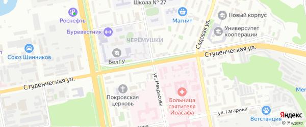 Улица Некрасова на карте Белгорода с номерами домов