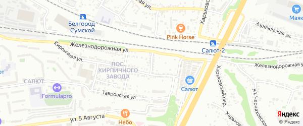 Лазурный 1-й переулок на карте Белгорода с номерами домов