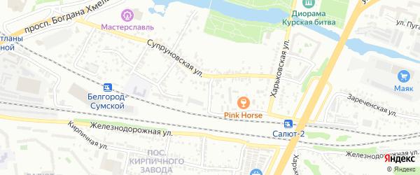 Супруновский 1-й переулок на карте Белгорода с номерами домов