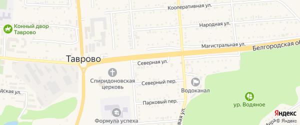 Северная улица на карте Таврово 4-й микрорайона с номерами домов
