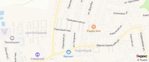 Парковый переулок на карте Северного поселка с номерами домов