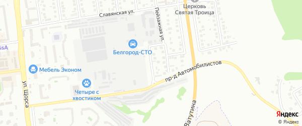 Закомарный переулок на карте Белгорода с номерами домов