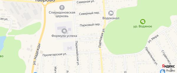 Первомайский переулок на карте Таврово 4-й микрорайона с номерами домов