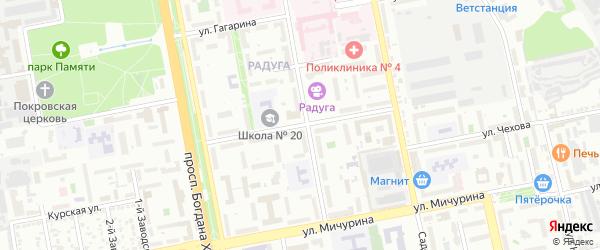 Улица Шершнева на карте Белгорода с номерами домов
