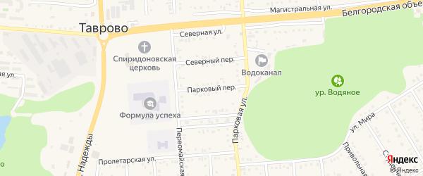 Парковый переулок на карте Таврово 4-й микрорайона с номерами домов