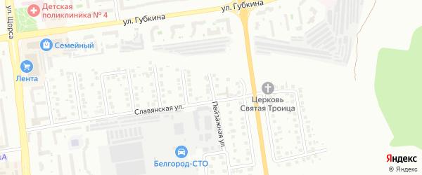 Холмогорский переулок на карте Белгорода с номерами домов