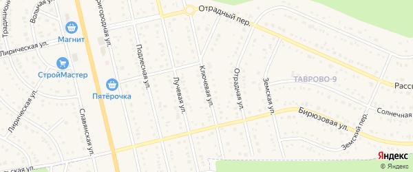 Ключевая улица на карте Таврово 9-й микрорайона с номерами домов