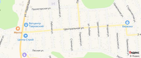 Степная улица на карте Таврово 4-й микрорайона с номерами домов