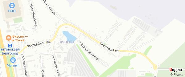 Портовая улица на карте Белгорода с номерами домов