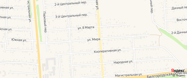 Улица Мира на карте Таврово 2-й микрорайона с номерами домов