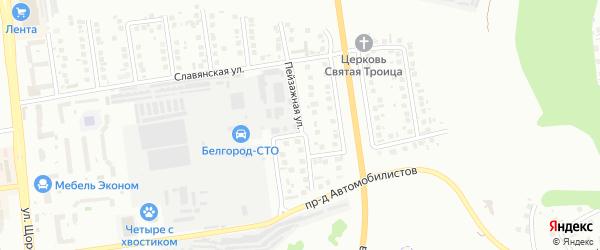 Пейзажная улица на карте Белгорода с номерами домов