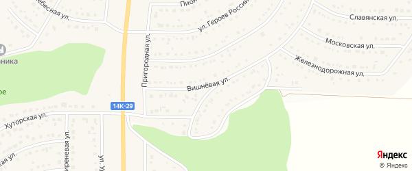 Вишневая улица на карте Никольского села с номерами домов