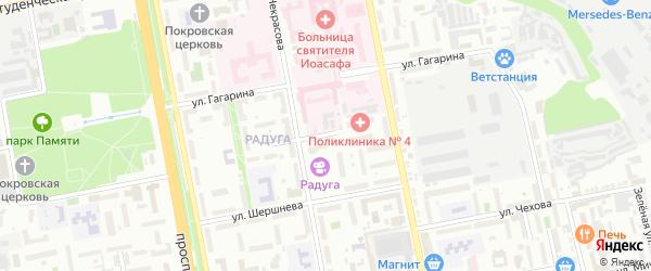 Платоновский 2-й переулок на карте Белгорода с номерами домов