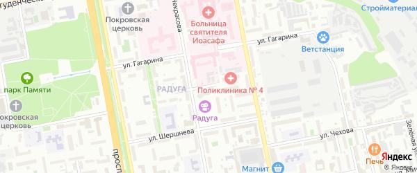 Триумфальный 2-й переулок на карте Белгорода с номерами домов