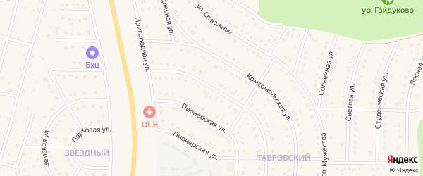 Улица Героев России на карте Никольского села с номерами домов