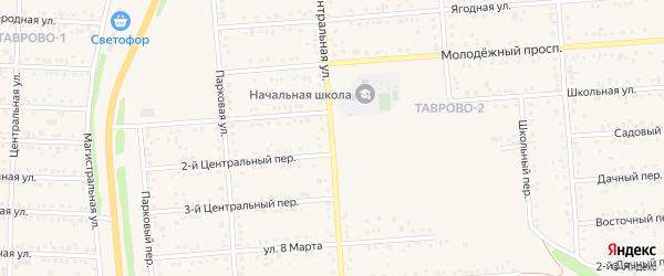 Центральная улица на карте Таврово 2-й микрорайона с номерами домов