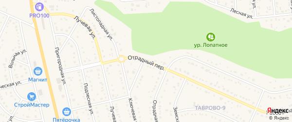 Отрадный переулок на карте Таврово 9-й микрорайона с номерами домов