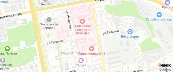 Улица Гагарина на карте Белгорода с номерами домов